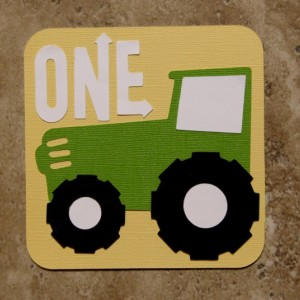 Tractor green and yellow 20 Pack Birthday or Baby Shower Invitations