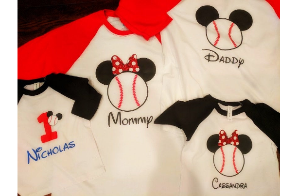 Mickey Mouse Baseball Birthday or Disney Tee - Personalized with Name and/or Age