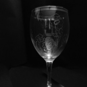 water color  wine glasses