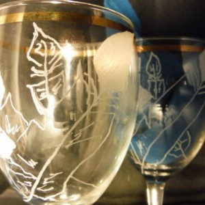winged wine glasses