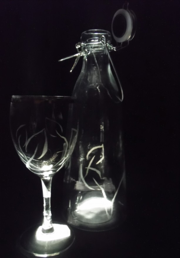 floral Glass and Jug set