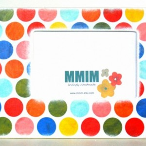 4 x 6 Picture Frame - Color Me Happy Polka Dots Picture Frames