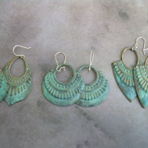 Aged Patina  Tribal Earrings