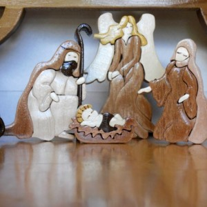 intarsia nativity set