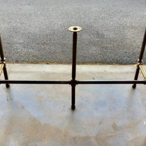 """Black Pipe Table Frame/TABLE LEGS """"DIY"""" Parts Kit, 3/4"""" x 106"""" long x 28"""" wide x 40"""" tall -  Custom sizes available in this style table base"""