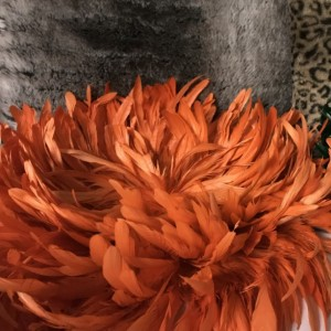 Tangerine Feather Wall Hanging Home Decor