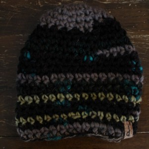 Brown Multicolored Beanie