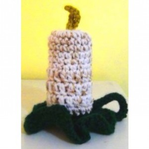 Flame-less Candle Holiday Crochet