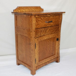 Bedside Nightstand with Hidden compartment, Mission, Arts and Crafts, Stickley Styled