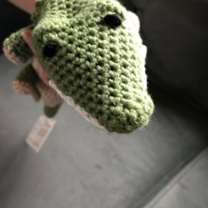 amigurumi Crocheted plush alligator, crocodile, bedtime, sensory handmade