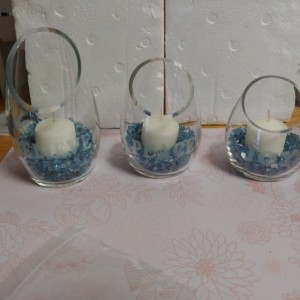 Christmas Stenciled Candleholders