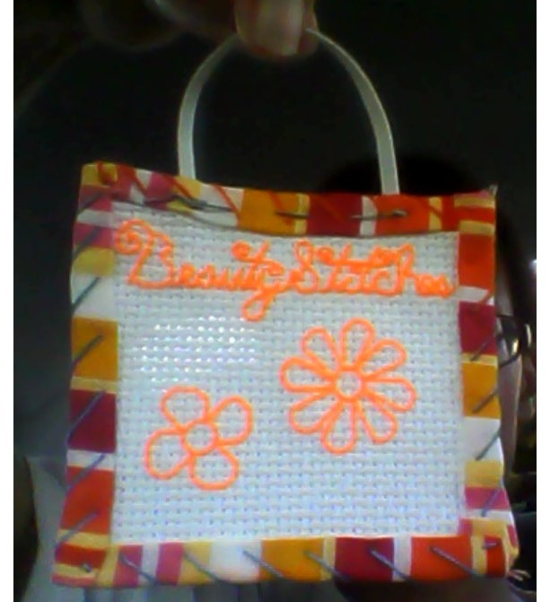 BeautyStitches Coaster Designs: Flowers (bordered)