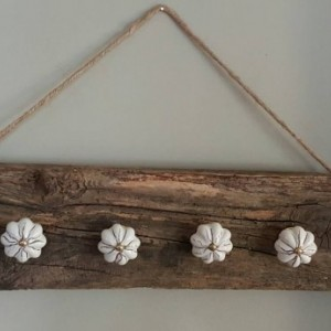 Jewelry hanger. Upcycled vintage knobs