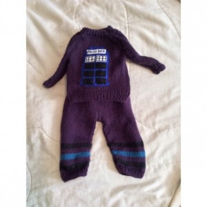 Dr. Who Knit Sweater and Pants Set