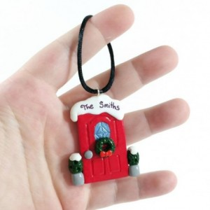 Personalized Holiday Front Door Ornament - Customize it with your Family Name!