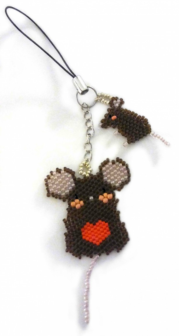 Personalized Mouse/Rat Keychain