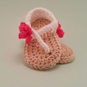 White Baby Girl Sandals - Crochet Baby Sandals - Flower Sandals - Infant Girl Shoes - Baby Girl Sandals - Baby Beach Shoes