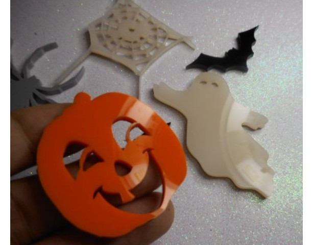pumpkin charms,ghost charms,Halloween charms,laser cut charms
