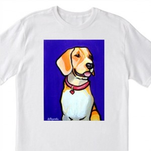 """POP Art- """"Beagle"""" Dog with Purple- 100% Cotton T-Shirt for Men, Women & Youth by A.V.Apostle"""