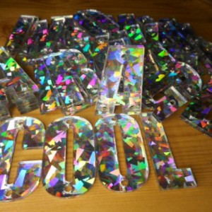Holographic letters,laser cut letters,acrylic letters