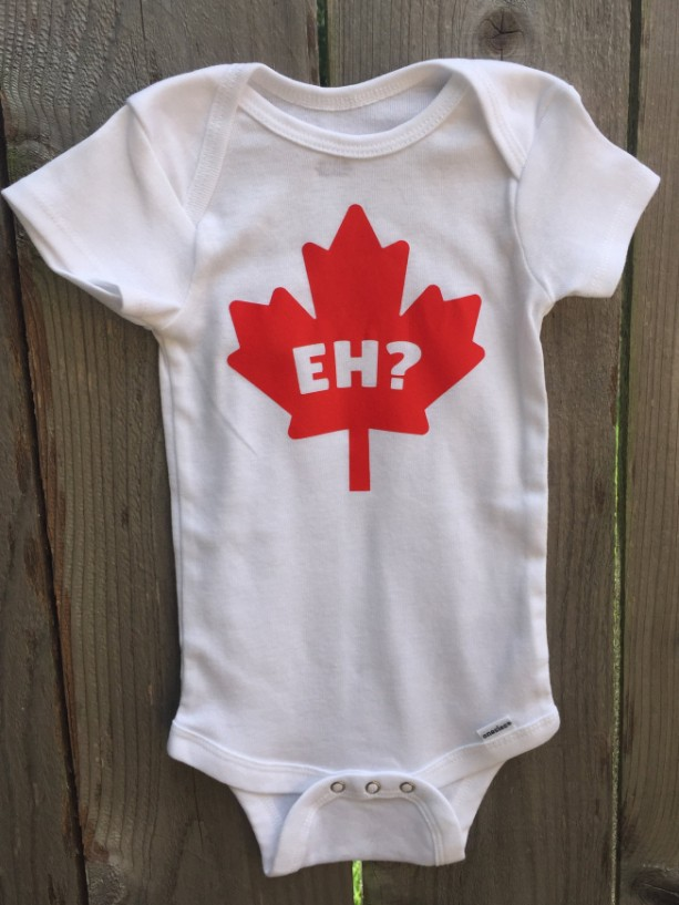 Oh Canada!   Canuck Onesie for Babies