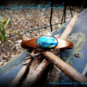 Copper Labradorite Bangle