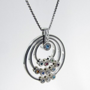 Great Grandmothers Birthstone Necklace