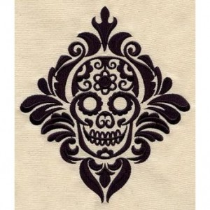 BATH towels 6 pc SET Embroidered - Mexican Calavera - more colors available skull bathroom decor bathroom towels skull towels