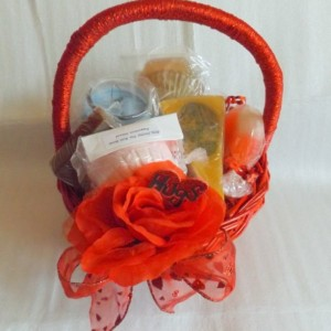 Hugs ~ Natural Soap & Soy Candle Gift Basket