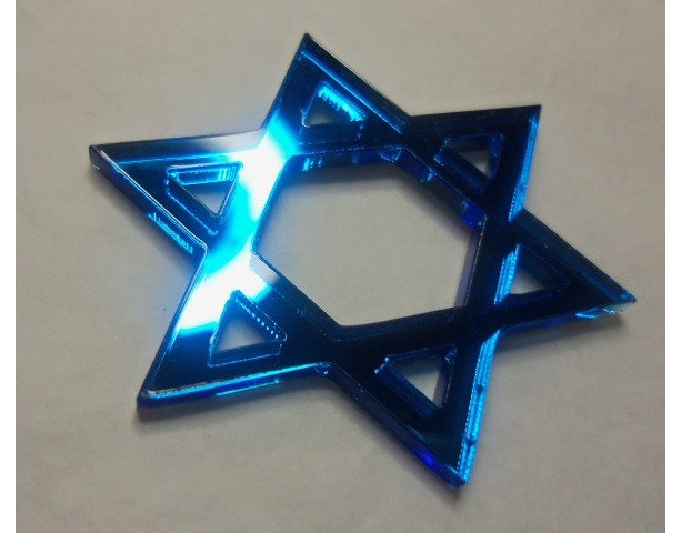 star charms, Israel, laser cut charms, Star of David,
