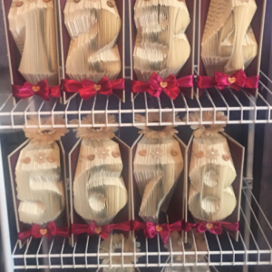 Folded Book Art - Table Numbers