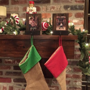 Rustic Personalized Christmas Stocking Hanger