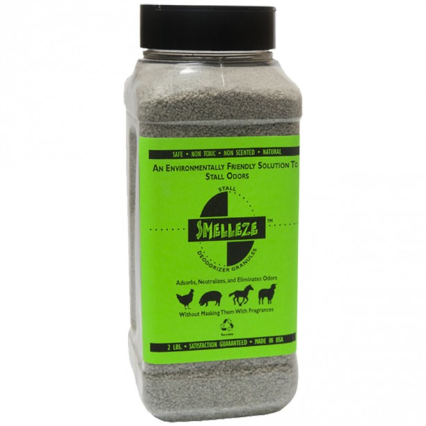 SMELLEZE Natural Stall Odor Removal Deodorizer: 50 lb. Granules Destroy Stinky Urine Safely