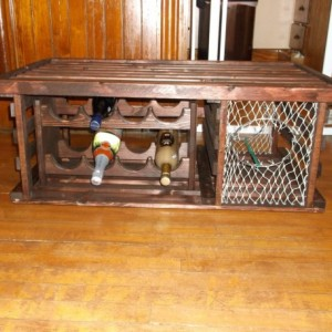 """Lobster Trap Coffee Table WINE RACK """"Made in Maine"""""""