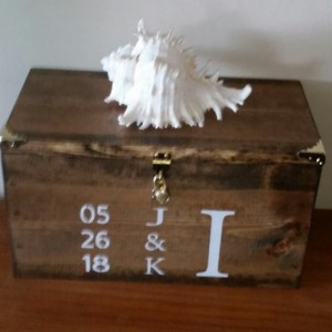 Industrial Style Personalized Wedding Card Box X-Large