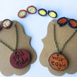 Show Your Pride/Team Colors Rustic Jewelry Set (College Football Pride, College Team Pride)