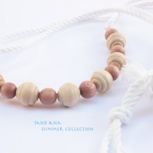 Beach Necklace, Sand & Wood Summer Necklace
