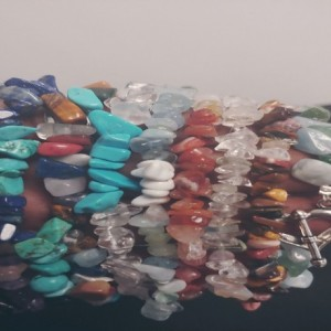 Entire Lot Of Handcrafted Gemstone Bracelets