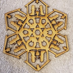 Nativity Scene Snowflake