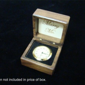 New Monogrammed engagement ring boxes.  Free Shipping and Engraving. RB67