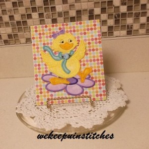 machine embroidery duck card
