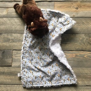Gender neutral personalized baby boy baby girl lovey/security blanket/baby shower gift/baby coming home gift