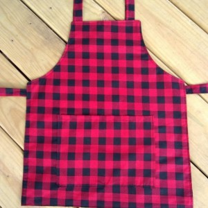 Children's Red Buffalo Check Apron