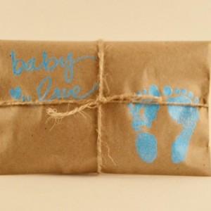 10 Baby Shower Favors. Blue and Kraft Paper Favors. Fresh Roasted Coffee Favors. Embossed. Handmade. Baby Love. Baby Boy