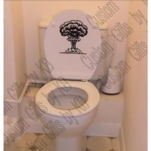 Nuclear Bomb Toilet Decal