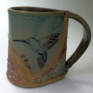 Hummingbird Pottery Mug