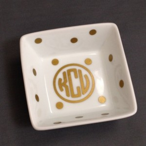 Personalized Monogramed Ring Dish