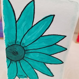 Hand-painted Daisy Blank Notecards, 5-Pack