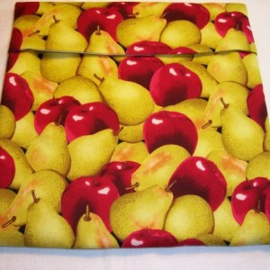 Apples & Pears Print Microwave Potato Bag,Bake Potato,Microwave Potato Bag,Kitchen,Gifts,Housewarming