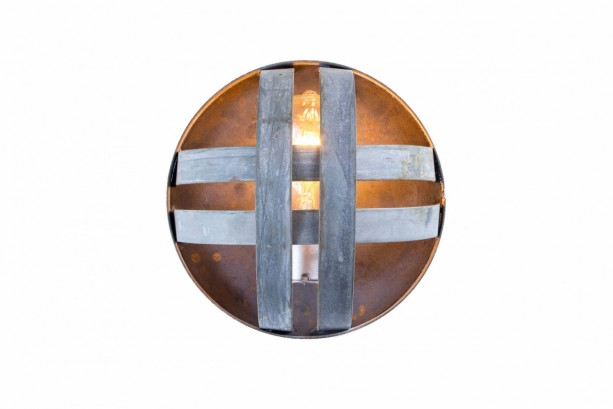 ATOM Collection - Pesini - Wine Barrel Ring Sconce Light / made from reclaimed Napa wine barrel rings - 100% Recycled! -